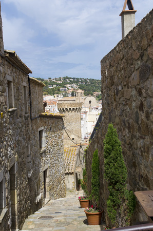 The streets of the ancient city of Tossa