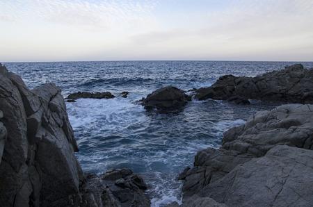 Sunset on the Mediterranean coast