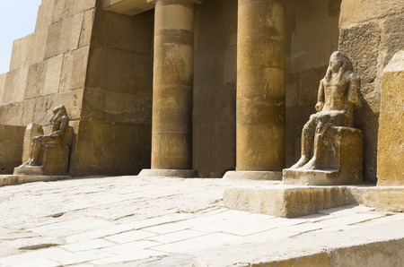 Entrance to the ancient Egyptian temple