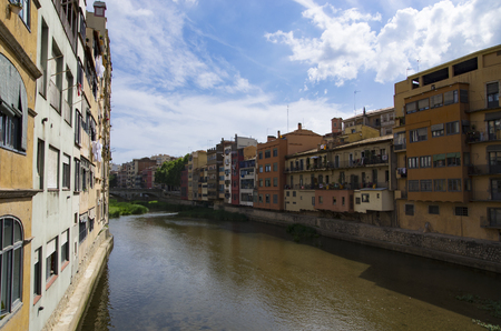 The bright city of Gerona on the river