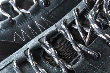 Lacing on trekking shoes, large Banco de Imagens