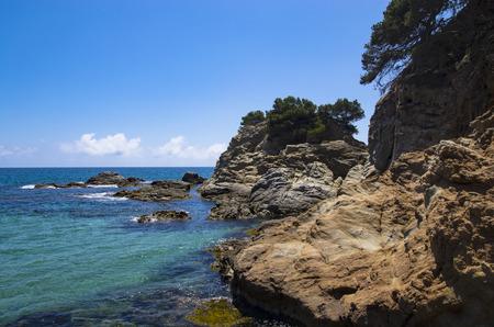 Stony coast of Spain, Barcelona, ??Lloret de Mar