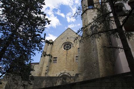 The ancient cathedral in Girona. Universidad de girona