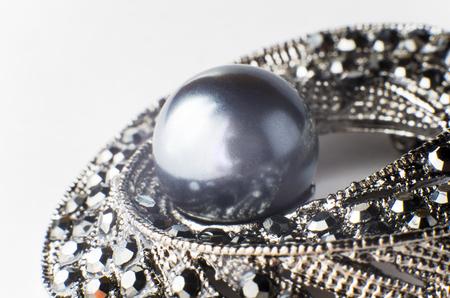 Black Pearl Brooch, part, large