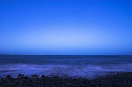 Night landscape of the sea coast, Tenerife Archivio Fotografico - 132361526