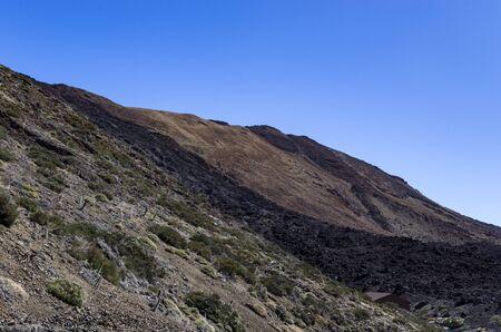 The hillside of the teide volcano, landscape Archivio Fotografico - 132361472