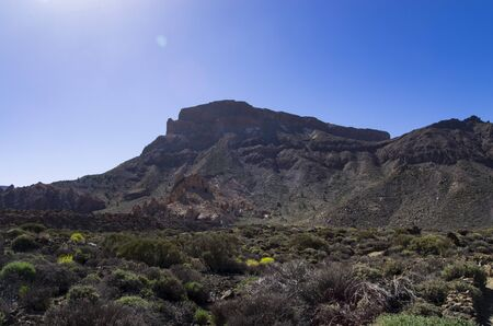 Mountains near the Teide volcano on the island of Tenerife Archivio Fotografico - 132073786