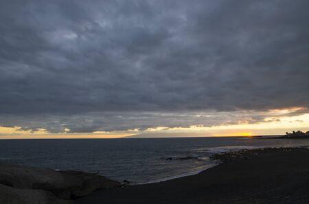 Colorful sunset in the atlantic ocean, landscape Archivio Fotografico - 132073117