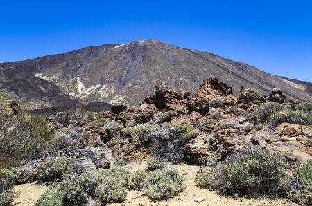 Teide volcano against the blue sky Archivio Fotografico - 132073949