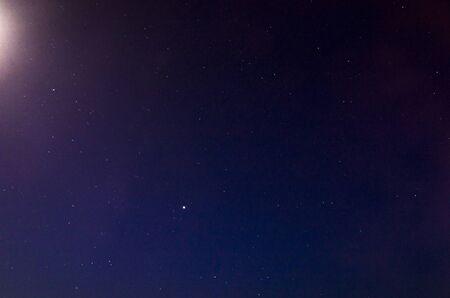 Landscape of the night starry sky Archivio Fotografico - 132270595