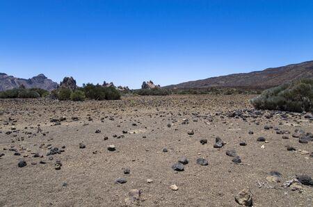 Teide volcano valley landscape Archivio Fotografico - 132363521
