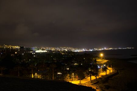 Night landscape of the coast of Tenerife Archivio Fotografico - 132363822