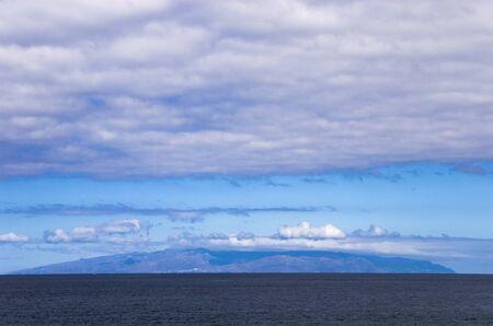 Gomera island on the horizon, landscape