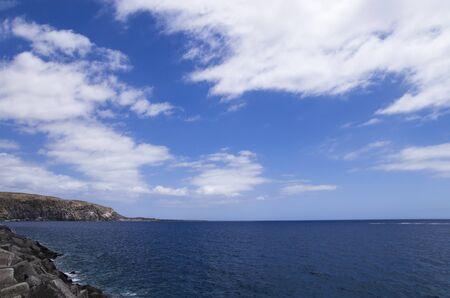 Tenerife sea coast landscape, south coast