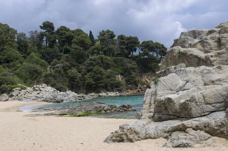 Small beach on the coast of spain Archivio Fotografico