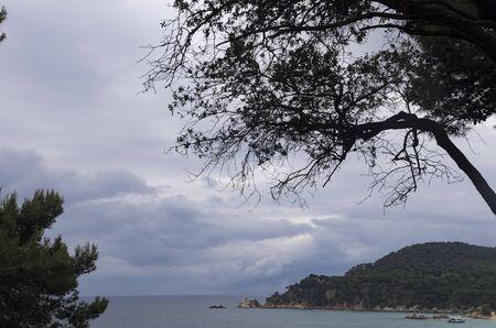 Cloudy sky over the coast of spain Archivio Fotografico