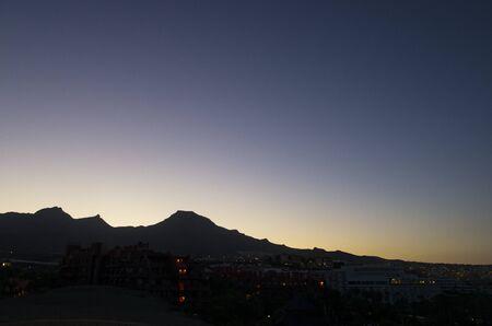 Dawn landscape on the island of tenerife Archivio Fotografico