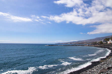 Landscape of the coast of the island of Tenerife in the Atlantic Ocean
