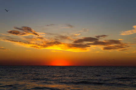 Colorful sunrise over the sea, landscape Archivio Fotografico