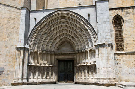 Arched entrance to the Catholic Church in Girona