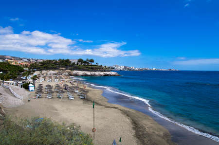Beach on Tenerife island, daytime landscape