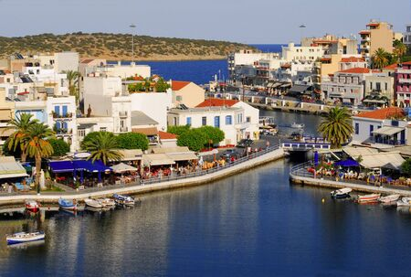 Greece,Crete, Agios Nikolaos Stock Photo