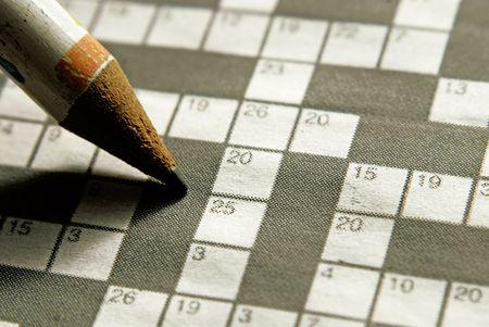 conundrum: crossword Stock Photo