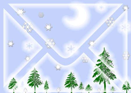 christmas greeting evvelope Stock Photo - 5790626