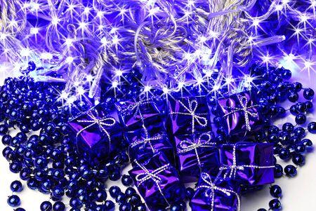christmas decoration and lighting Stock Photo