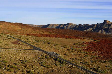 the road in the mountain near Teide volcano,Canary island Stock Photo - 6341937