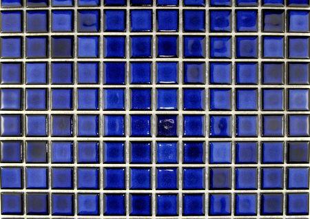 ceramic blue mosaic tiles photo