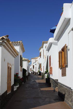 narrow lane and spanish villa photo