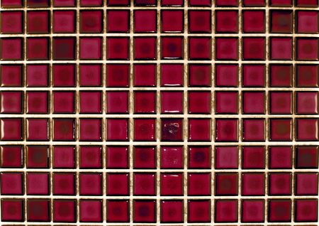 mosaic tiles in burgindy red colour photo