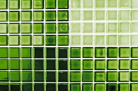 tile grout: mosaic tiles in  green  colour
