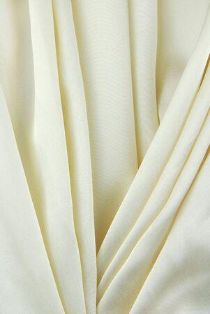 white creamy fabric  creasy texture photo