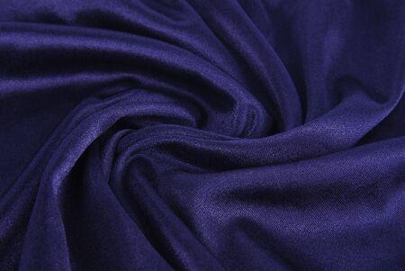 creasy: royal blue  silk texture Stock Photo
