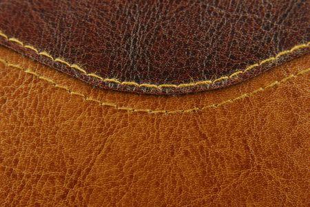 texture en cuir brun avec couture Banque d'images