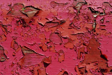 chipped paint: old peeling paint  red  Stock Photo