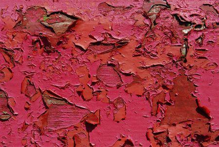 peeling paint: vecchio peeling vernice rossa