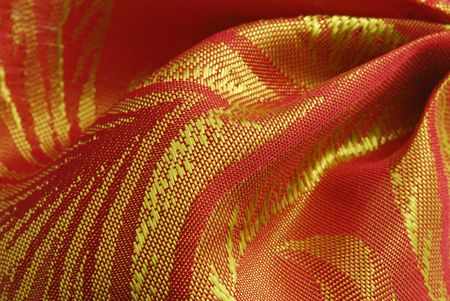 golden red fabric texture Stock Photo - 7295127