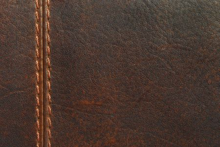 brown leather texture with seam photo