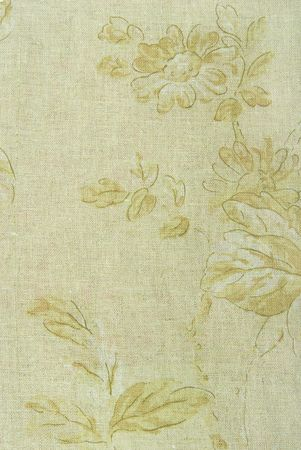 linen fabric texture with flowers photo