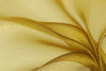 golden  organza fabric texture photo