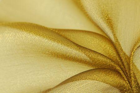 golden  organza fabric texture
