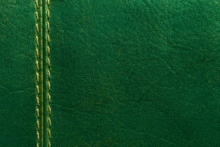 green leather with seam Stock Photo - 8079536