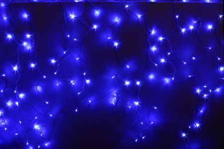 blue led lights photo