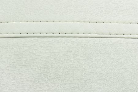 leather belt: white  leather  seam texture