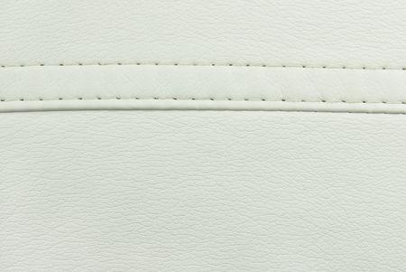 witte lederen naad textuur