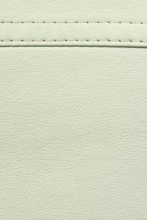white  leather  seam texture Stock Photo - 8157330