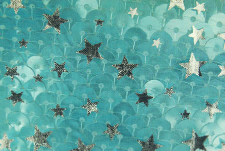 sheeny: silver fish scale and stars fabric texture